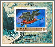 Manama - 3120/ Bloc N°153 A Utopian Spacecraft By Jules Verne  ** MNH Apollo 16 Espace (space) - Manama