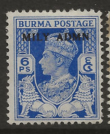 Burma, 1945, British Military Administration, SG 37, Mint Hinged - Burma (...-1947)