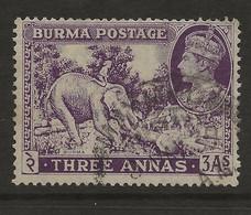Burma, 1938, SG 26, Used - Burma (...-1947)