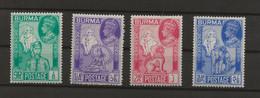 Burma, 1946, Victory, SG 64 - 67, Complete Set, Used - Burma (...-1947)