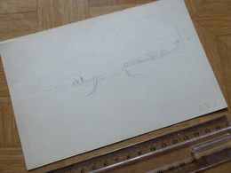 Georges VICTOR HUGO (1868-1925) PEINTRE Petit Fils Victor Hugo. Dessin AUTOGRAPHE - Autographs