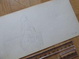 Gustave LE SENECHAL DE KERDREORET (1840-1933) PEINTRE Officiel MARINE. AUTOGRAPH Dessin Original Signé - Autographs