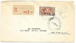 Martinique Fort De France A New York 1945 En Recommandee - Covers & Documents