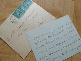 Alexandre DUMAS Fils (1824-1895) Romancier [ DAME Aux CAMELIAS] - AUTOGRAPHE Au Comte Joseph Primoli - Autographs