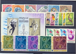 Restant BURUNDI (oa 78A/79A) Postgaaf ** MNH PRACHTIG - Sammlungen