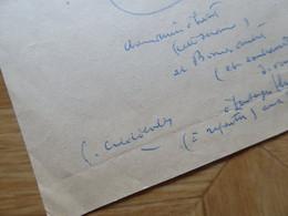 Pierre COMBET DESCOMBES (1885-1966) PEINTRE Lyon ZINIARS - AUTOGRAPHE - Autographs