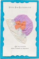 BONNET De SAINTE CATHERINE Violet à Dentelle Et Ruban Orange - Met Mechanische Systemen