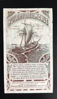 Pharmacie Agen Pharmacien Rouquette Brunâtre étiquette Original 1900 Huile De Foie De Morue Norvège - Zonder Classificatie