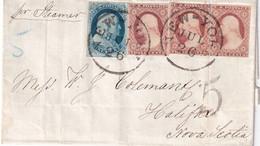 USA 1852 LETTRE DE NEW YORK POUR HALIAX - Brieven En Documenten