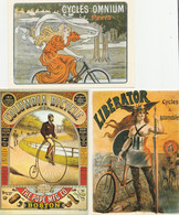 5 CPM:HOWE BICYCLES TRICYCLES,THE FRANCO AMERICAN BICYCLE,CYCLES OMNIUM,COLUMBIA BICYCLE,LIBERATOR CYCLES & AUTOMOBILES - Autres