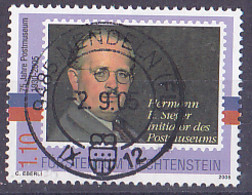 "Timbre Du Liechtenstein Série 75 Ans Musée De La Poste De 2005 Tp  "" Consul Hermann E. Sieger "" - Tp Oblitérés - Gebruikt"