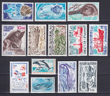 TAAF - ANNEE COMPLETE 1977 AVEC POSTE AERIENNE - YVERT N° 64/73 + PA48/50 **  MNH - COTE = 69.4 EUR. - Full Years