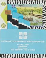404/ Botswana; P11. Hippo And Canoe, 25 Ut., SN BOGAB, Ca. 16.000 Ex. - Botswana
