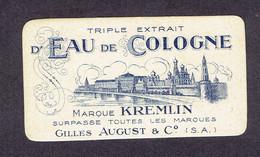 """Carte Parfum Gilles AUGUST & C° """"KREMLIN"""" Triple Extrait D'Eau De Cologne - Vintage (until 1960)"""