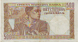 500 DINARA - SERBIE - Très Beau Billet De 1941 - - Serbia