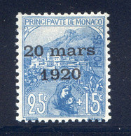 TIMBRES MONACO REF010521LI, Timbre N° 40, Charnière, Cote 15 € - Unclassified