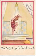 Illustrateur - E. Maison - Kurt / Girl In Bath, Showering, Fille Dans Le Bain, Douche, Ragazza In Bagno, La Doccia - Andere Zeichner