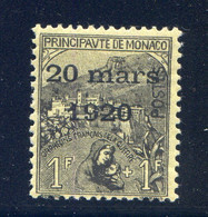 TIMBRES MONACO REF010521LI, Timbre N° 42, Charnière Forte, Cote 95 € - Unclassified