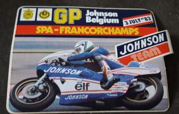 STICKER, AUTO-COLLANT, MOTOR RACES GP JOHNSON BELGIUM 1983, SPA-FRANCORCHAMPS - Motorcycle Sport
