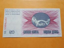 BOSNIE-HERZEGOVINE 50 DINARA 1992 PEU CIRCULé - Bosnia And Herzegovina