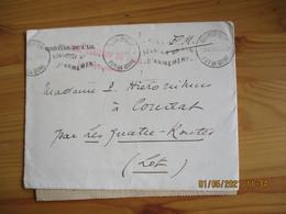 Aulnat Base Aerienne Paris Lettre En Franchise Postale Guerre 39.45 - WW II