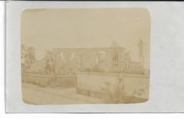 CARTE PHOTO NORD WW1 HERLIES 7 Photos  Eglise Et Quartier Détruit Autour De La Gare Et Une Ferme ? Voiture Des Officiers - Altri Comuni