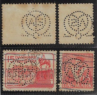 Denmark 1916 / 1944 2 Stamps Perfin OMAS/o Monogram From Otto Monsted A / S From Odense - Otros