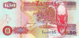 Billet Neuf  UNC - ZAMBIE - ZAMBIA - 50 KWACHA - 1992 - B/G 5258785 - Oiseau Vautour Zèbre - Zambia