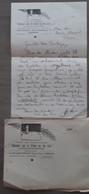 Brief Aan De NIR Van Cl. De Landsheer, Secretaris Van De 'Bedevaart Naar De Graven Van Den Ijzer' Met Enveloppe Temsche - Historical Documents