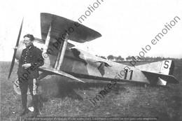 PHOTO RETIRAGE REPRINT AVION     ALFRED HEURTAUX SPAD VII A LA SPA 3 - Aviazione