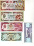 Lot De 5 Billets AFGHANISTAN - NEUFS - 1000 - 500 - 100 - 50 ET 2 AFGHANIS - Afghanistan