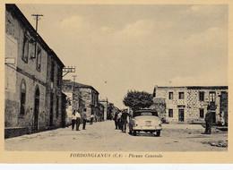 FORDONGIANUS-CAGLIARI-AUTO CAR VOITURE-PIAZZA CENTRALE-CARTOLINA VIAGGIATA 1940-1948 - Cagliari