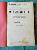Ernst Haeckel - Die Weltratsel, Leipzig 1922 - Old Books