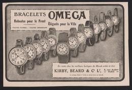 Pub Papier 1916 Montres Chronometres OMEGA Montre Horlogerie Horloger Bienne SUISSE - Advertising