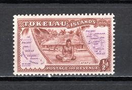 TOKELAU   N° 1   NEUF AVEC CHARNIERE   COTE  0.15€   CARTE - Tokelau