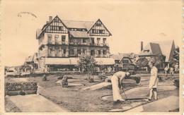 COQ S/MER  - DEN HAAN A/ZEE : Le Tom Thumb Golf Et L'Hôtel De Bruges - Cachet De La Poste 1952 - De Haan