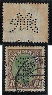 Denmark 1919 / 1949 Stamp Perfin NMF Monogram FromA/S Nordiske MetalvarefabrikkerNordic Metalware FactoriesCopenhagen - Otros