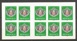 Carnets Monaco Autoadhésif Neuf **  N 14  Vendu Au Prix De La Poste - Booklets