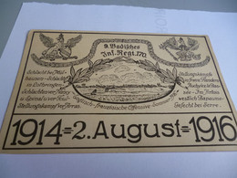CP14/18    COMMEMORATION DU 170  REGIMENT INFANTERIE ALLEMAND DE L'OFFENSIVE DE LA SOMME DU  2 AOUT 1914/1916 - 1914-18