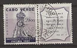 CAP VERT - CABO VERDE - FATIMA - De 1951 - Yvert 260 ° Oblitéré. - Cape Verde