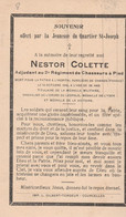 ABL, Colette Nestor ( Courcelles ) Mort Pour La Patrie à L'hôpital Auxilières De Cannes ( France ) 2e Ch à P ,format CPA - Todesanzeige