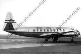 PHOTO RETIRAGE REPRINT AVION      VICKERS VIKING CENTRAL AFRICAN AIRWAYS VP-YNE - Aviazione