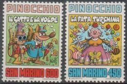 """San Marino - 1990 """"Centenario Della Morte Di Carlo Collodi"""" S. Cpl 4v MNH** - Nuevos"""
