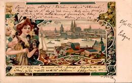 79682- Jugendstil Ak Köln Am Rhein 1902 - Koeln