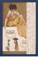 CPA Kirchner Raphael Art Nouveau Femme Woman Circulé Marionnettes Gaufré Embossed - Kirchner, Raphael