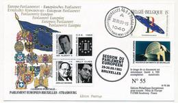 BELGIQUE - Env. Affr Présidence Belge - Bruxelles Parlement Européen 30/9/1993 + Vignettes Présidence Et Parlement - Covers & Documents