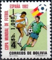 Bolivia 1984 ** CEFIBOL 1208 Fútbol España 82 Habilitado Nuevo Valor. Soccer Spain 82 Enabled New Value. - Bolivia