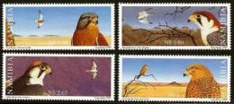 NAMIBIA, 1999, MNH  Stamps, Falcons Of Namibia, Michel 986-989 #13466 - Namibia (1990- ...)