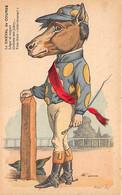 LE CHEVAL DE COURSE - ILLUSTRATEUR Caricature JOCHEY En Cheval - Animal Humanisé - Equitation