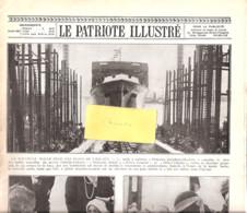 """Hoboken-Lancement De La Malle Ostende-Douvres-Dover-Mailboot """" Princesse Joséphine Charlotte""""-Patriote Illustré-1930 - Barche"""